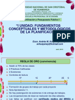 1. Fundamentos Conceptuales y Metodológicos de La Planificación
