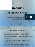 Statistics in Research