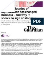How two decades of digitalisation has changed business – and why it shows no sign of stopping   Future-focused IT   The Guardian