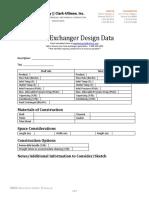 Heat Exchanger Design Data