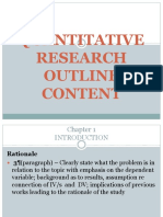 Quantitative Research Outline Content