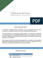 Clasificación Del Gasto en el PEF