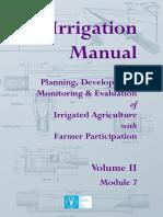 Irrigation Manual FAO Module 7