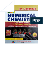 (IIT JEE) P Bahadur-GRB Numerical Chemistry Chapter 18 to 20 for IIT JEE and Other Engineering Entrance Exams-GRB (2018)