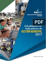 Cajamarca Indicadores de Gestión Municipal, 2017