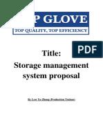Warehouse Management Proposal