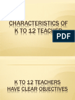 Characteristics of k to 12 Teacher