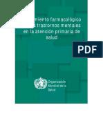 Farmacología en  Trastornos mentales  en la salud primaria