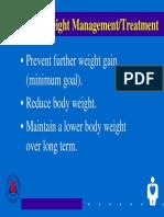 Goals of Weight Management Treatment