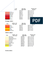 Rgb Color Codes and Conversions