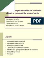 Investigarea Parametrilor de Evaluare Clinică a Gamapatiilor