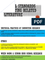 Ethical Standards in Writing Related Literature