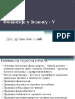 Finansije u biznisu - Predavanje 5