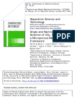Single and Multicomponent Sorption