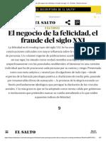 El Negocio de La Felicidad, El Fraude Del Siglo XXI - El Salto - Edición General