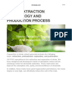 Stevia Extraction Technology and Production Process
