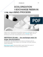 Sugar Decolorization Using Ion Exchange Resin in the Refining Process