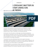 Treating Organic Matter in Wastewater Using Ion Exchange Resin