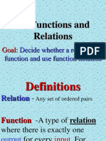 Functions and relation