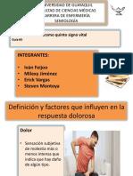 El dolor (Definición y factores que influyen en la respuesta dolorosa)