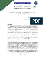 Procesos de nominación y estigmatización de los pueblos indígenas en Argentina