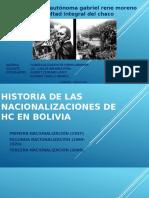 Historia de Las Nacionalizaciones de Hc en Bolivia