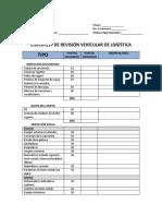 92165143 Check List de Revision Vehicular de Logistica