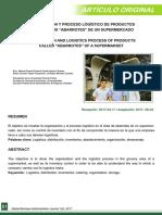 """ORGANIZACIÓN Y PROCESO LOGÍSTICO DE PRODUCTOS DENOMINADOS """"ABARROTES"""" DE UN SUPERMERCADO"""