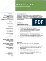 2019 Resume Template Green