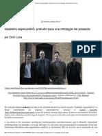Realismo Especulativo_ Preludio Para Una Ontología Del Presente _ Vacío