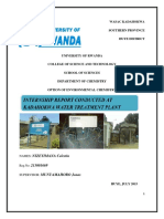 Internship Report at Kadahokwa Water Tre