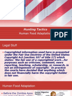 Survive the Zombie Apox. H1 Hunting - Human Food Adaptation
