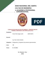 Curvas de Estabilizacion de Humedad y Temperatura en Camara Climatizada Con Carga Alimentos