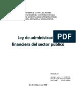 La Ley Organica de La Administracion Financiera Del Sector Publico