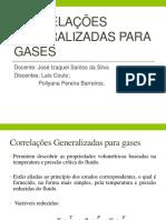 Correlações Generalizadas Para Gases