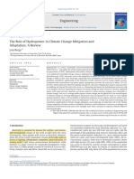 The Role of Hydropower in Climate Change Mitigation and Adaptation
