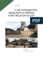 Estudio Integración Paisajística Font Roja