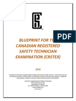 BCRSP CRST Examination Blueprint