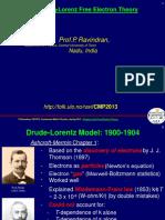Drude-LorentzFreeElectronTheorypresentation