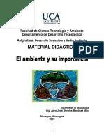 Materia didáctico I U-El ambiente y su importancia