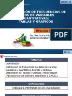 DISTRIBUCIÓN DE FRECUENCIAS DE DATOS DE VARIABLES CUANTITATIVAS