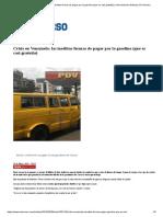 Crisis en Venezuela_ Las Insólitas Formas de Pagar Por La Gasolina (Que Es Casi Gratuita) _ Internacional _ Noticias _ El Universo