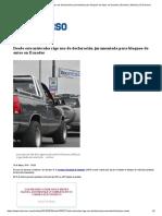 Desde Este Miércoles Rige Uso de Declaración Juramentada Para Bloqueo de Autos en Ecuador _ Ecuador _ Noticias _ El Universo
