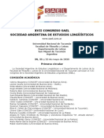 XVII SAEL 2020 Tucumán Primera Circular