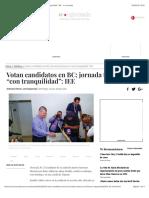 """Votan Candidatos en BC; Jornada Transcurre """"Con Tranquilidad"""""""