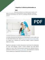 La Enfermería en Argentina