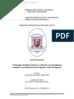El Principio Del Minimo Esfuerzo y Su Relacion Con El Rendimiento Academico Una Experiencia de Investigacion Accion Participativa