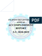 Accomplishment Report Filipino 2018 2019