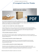Five Advantages of Corrugated Crates Over Wooden Crates