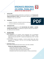 Bases I Campeonato Regional IRT Blitz 2019 Piura - Válido par Elo Fide- Todo el Perú